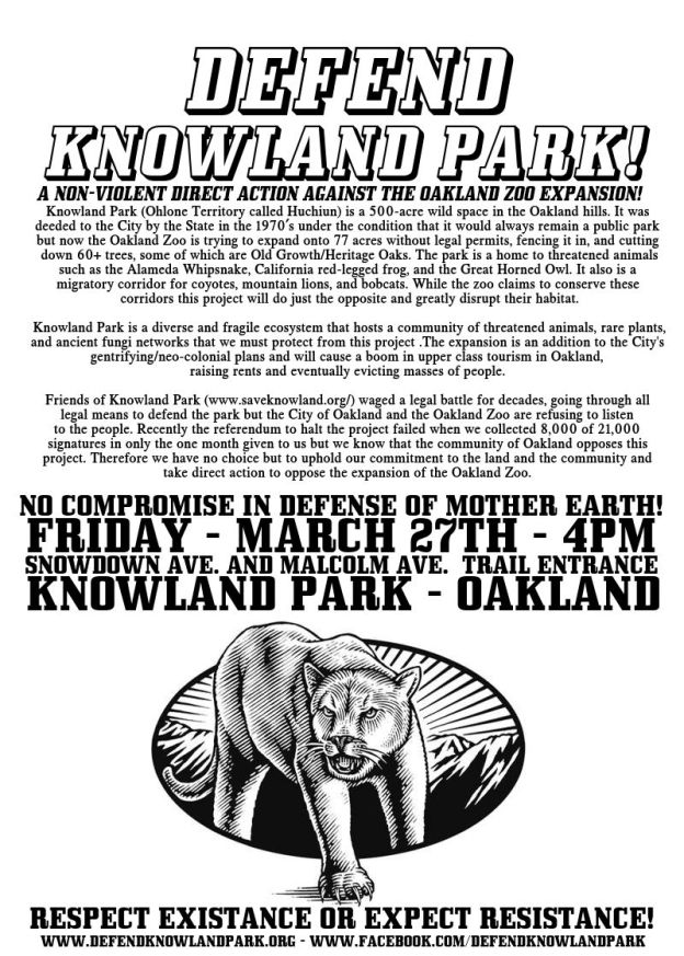 Defend Knowland Park! @ Knowland Park | Oakland | California | United States
